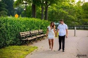 James and Kristalyn walking