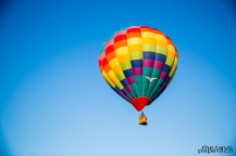 colorful balloon sailing into the sky